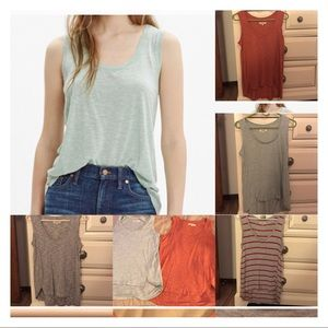 4 Madewell Anthem Tanks size XS price is for all